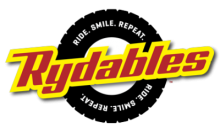 A logo for Rydables