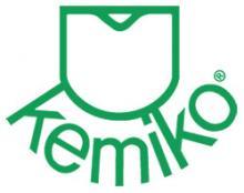 A logo for Kemiko