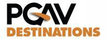 A logo for PGAV Destinations